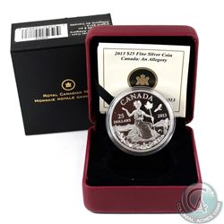 2013 $25 Canada - An Allegory Fine Silver Coin (capsule lightly scratched) Tax Exempt