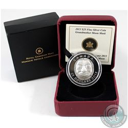 2013 Canada $25 Grandmother Moon Mask Fine Silver Coin (outer sleeve slightly worn) Tax Exempt