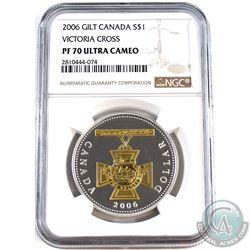 2006 Canada $1 Gilt- Victoria Cross NGC Certified PF-70 Ultra Cameo (Tax Exempt).