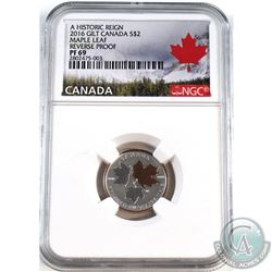 2016 Canada $2 Historic Reign- Maple Leaf NGC Certified PF-69 Reverse Proof (Tax Exempt).