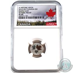 2016 Canada $1 Historic Reign - Maple Leaf NGC Certified PF-69 Reverse Proof (Tax Exempt).