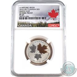 2016 Canada $3 Historic Reign - Maple Leaf NGC Certified PF-67 Reverse Proof (Tax Exempt).