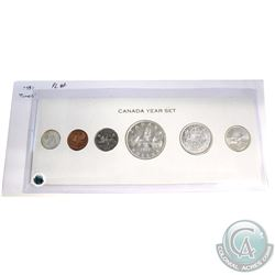 1957 Canada 6-coin Proof Like Set in White Cardboard Holder. Coins contain light toning.