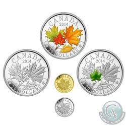 2014 Canada Majestic Maple Leaves 5-coin Set in Deluxe Display Case. You will receive $20 Majestic M