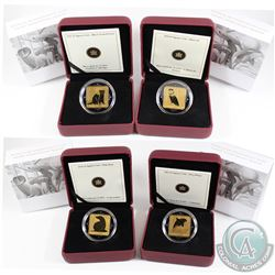 2010 & 2011 Canada $3 Wildlife Conservation Series Gold Plated Sterling Silver Square Coins. You wil