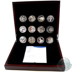 RCM Issue: 2012 Official Diamond Jubilee International Silver 12-Coin Collection in Deluxe Presentat