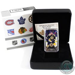 2019 Canada $25 Boston Bruins: Ray Bourque Rectangular Fine Silver (Tax Exempt)
