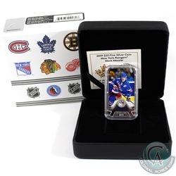 2019 Canada $25 New York Rangers Mark Messier Rectangular Fine Silver (Tax Exempt)