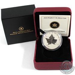 2010 Canada $5 Piedfort Silver Maple Leaf Fine Silver Coin (Tax Exempt)