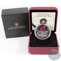 2010 Canada Limited Edition Poppy Proof Sterling Silver Dollar.