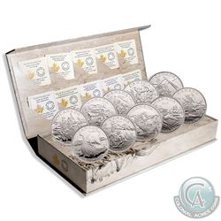 2014-2015 Canada $15 Exploring Canada Complete 8-coin Set in Deluxe Display (the space exploration c