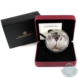 2013 Canada $50 HMS Shannon & USS Chesapeake 5oz. Silver Coin (coin lightly toned, capsule scratched
