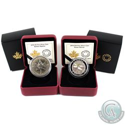 2014 Canada $5 Bullion Replica & 2014 $10 Green Darner Dragonfly Fine Silver Coins (outer sleeves li
