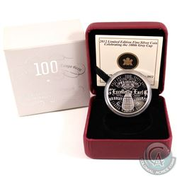 2012 Canada $1 100th CFL Grey Cup Ltd. Edition Proof Silver Dollar (capsule lightly scratch & COA is