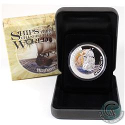 Perth Mint Issue: 2012 Tuvalu $1 Ships that Changed the World - Mayflower Fine Silver Proof Coin (Ta