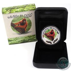 Perth Mint Issue: 2011 Tuvalu $1 Wildlife in Need - Orangutan Fine Silver Proof Coin (Tax Exempt)