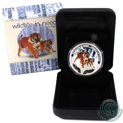 Perth Mint Issue: 2012 Tuvalu $1 Wildlife in Need - Siberian Tiger Fine Silver Proof Coin (Tax Exemp