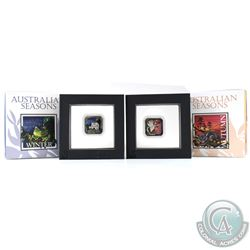 Perth Mint Issue: 2013 Australia $1 Australian Seasons - Autumn & Winter 1oz Fine Silver Proof Squar