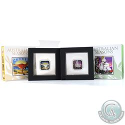 Perth Mint Issue: 2013 Australia $1 Australian Seasons - Summer & Spring 1oz Fine Silver Proof Squar