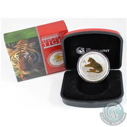 Perth Mint Issue: 2010 Australia $1 Lunar Series II Year of the Tiger 1oz Gilded Fine Silver Coin (o