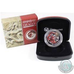 Perth Mint Issue: 2012 Australia $1 Lunar Series II Year of the Dragon 1oz Gilded Fine Silver Coin (