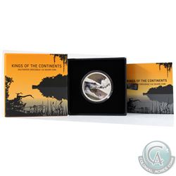 New Zealand Mint Issue: 2017 Niue $2 King of the Continents - Saltwater Crocodile 1oz Fine Silver Co