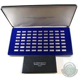 The Official Classic Car Miniature Sterling Silver Ingot Collection by The Franklin Mint. This set c