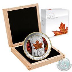 2016 Canada $250 Colourized Maple Leaf Forever 1-Kilo Fine Silver (Tax Exempt). Coin comes encapsula