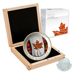 2016 Canada $250 Colourized Maple Leaf Forever 1-Kilo Fine Silver (Tax Exempt). Coin comes encapsula
