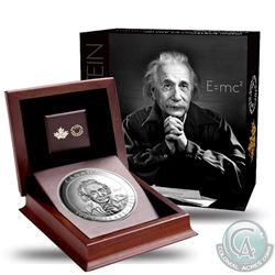 2015 Canada $100 Albert Einstein 10oz. Fine Silver Proof Coin (Tax Exempt). Coin comes encapsulated