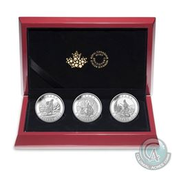2015 Canada $5 Cornelius Krieghoff 200th Anniversary Fine Silver 3-coin Set (Tax Exempt)