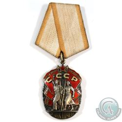 Soviet Russia - Order of the Badge of Honour Medal & Ribbon.