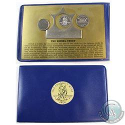 Sherritt Mint 'The Nickel Story' Set. Includes a Blank, Nickel Strip, Sherritt Mint Coin, and 1971 5