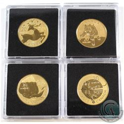 2012-2014 Canada $20 for $20 Gold Plated Fine Silver Coin Collection (Tax Exempt). You will receive