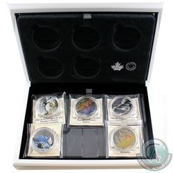 2016 Canada $20 Landscape Illusion 5-Coin Fine Silver Coin Set & Deluxe Case (Tax Exempt).