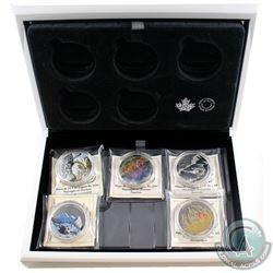 2016 Canada $20 Landscape Illusion 5-Coin Fine Silver Coin Set & Deluxe Case (Tax Exempt).