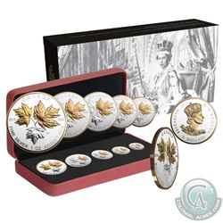 2016 Canada A Historic Reign Silver Maple Leaf 5-Coin Fractional Set (Tax Exempt)