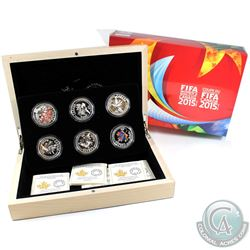 2015 Canada $10 FIFA Woman's World Cup 6-Coin Fine Silver Set (Tax Exempt).