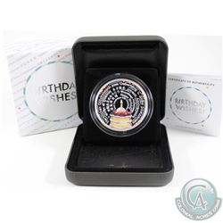 2018 Tuvalu $2 Birthday Wishes 2oz .999 Silver Proof Coin (TAX Exempt)