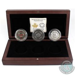 2015 Canada $25 Singing Moon Mask Fine Silver 3-coin Set (Tax Exempt). Please note outer box contain