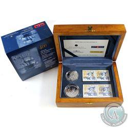 2004 Canada Ile Sainte-Croix Coin and Stamp Set.