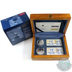 2004 Canada Ile Sainte-Croix Coin and Stamp Set.