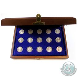 """1867-1968 The Prime Ministers of Canada 15-coin Sterling Silver """"From Sea to Sea"""" Commemorative Set"""