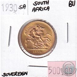 1930SA South Africa Sovereign Brilliant Uncirculated.