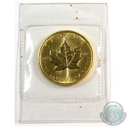 1985 Canada $10 1/4oz Fine Gold Maple (Tax Exempt). Comes sealed in original mint pouch.