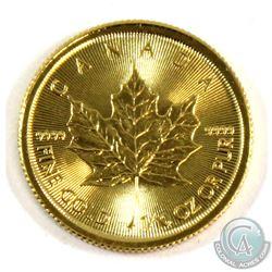 2017 Canada $5 1/10oz Fine Gold Maple (Tax Exempt).