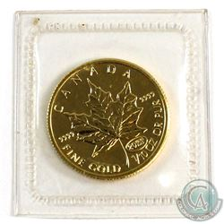 1999 Canada $5 1/10oz 20 Years Privy .9999 Fine Gold Maple Leaf Sealed in Plastic (Tax Exempt).