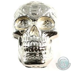 Beaver Bullion 5oz .999 Fine Silver Skull (Tax Exempt).