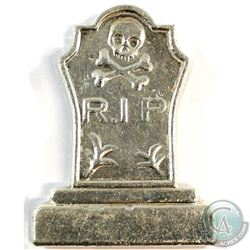 Monarch Precious Metals R.I.P. 5oz .999 Fine Silver Tombstone (Tax Exempt).