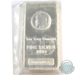 Made in U.S.A. 10oz .999 Fine Silver Bar Sealed in Plastic (Tax Exempt).